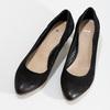 Lodičky z černé broušené kůže bata, černá, 626-6652 - 16