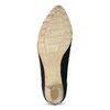Lodičky z černé broušené kůže bata, černá, 626-6652 - 18