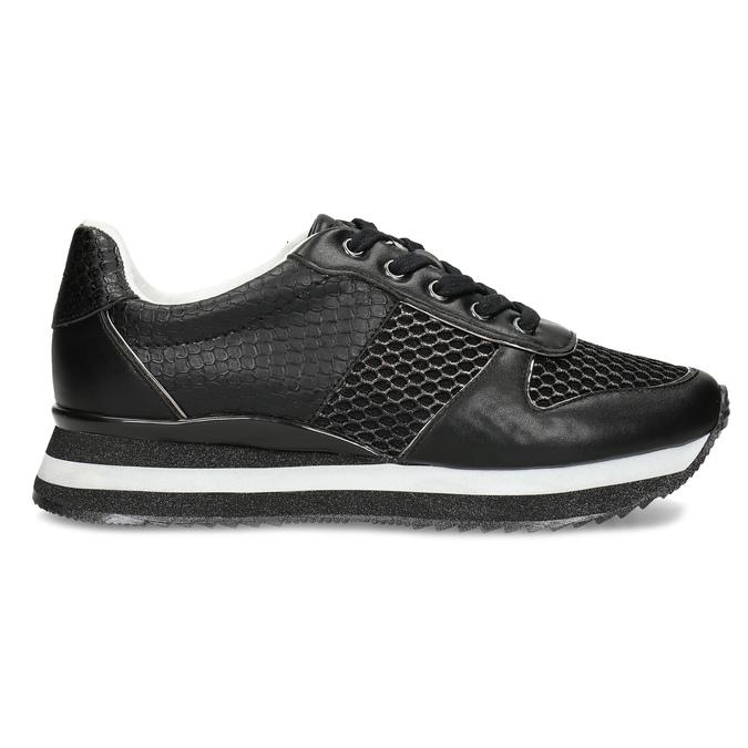 Černé dámské tenisky s výraznou podešví bata-light, černá, 521-6647 - 19