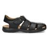 Hnědé sandály pánské fluchos, černá, 864-6635 - 19