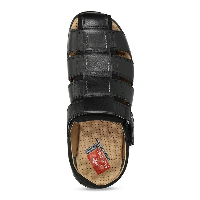 Hnědé sandály pánské fluchos, černá, 864-6635 - 17