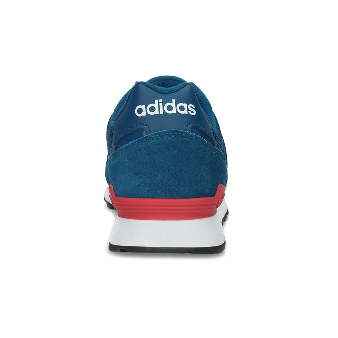Kožené modré tenisky s červeným detailem adidas, modrá, 803-9302 - 15