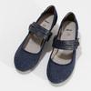 Tmavě modré lodičky z broušené kůže bata, modrá, 623-9646 - 16