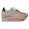 Dámské tenisky na flatformě bata, oranžová, 549-0603 - 19