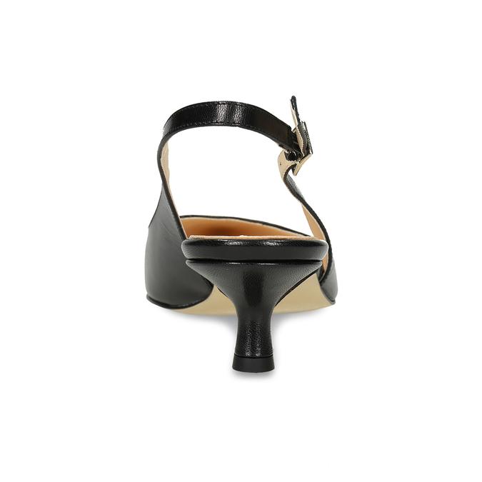 Kožené lodičky s volnou patou bata, černá, 624-6654 - 15