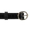 Černý pásek krokodýlí vzor bata, černá, 951-6702 - 26