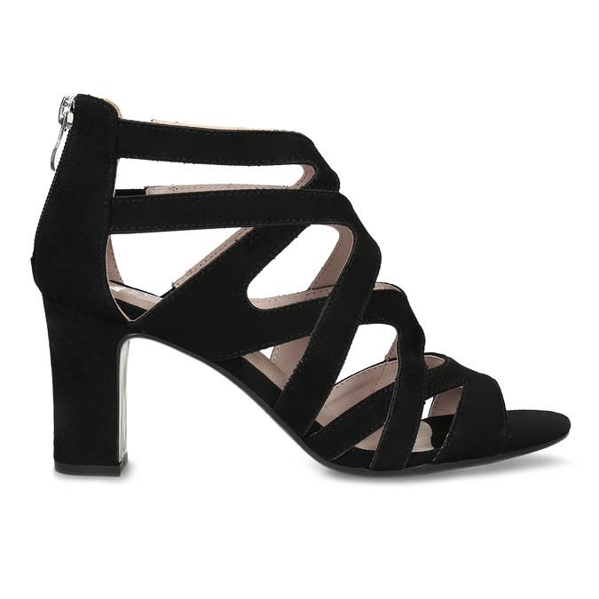Černé dámské sandály insolia, černá, 661-6611 - 19
