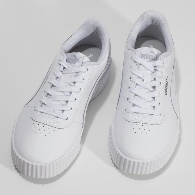 Bílé dámské ležérní tenisky s prošíváním puma, bílá, 501-1188 - 16