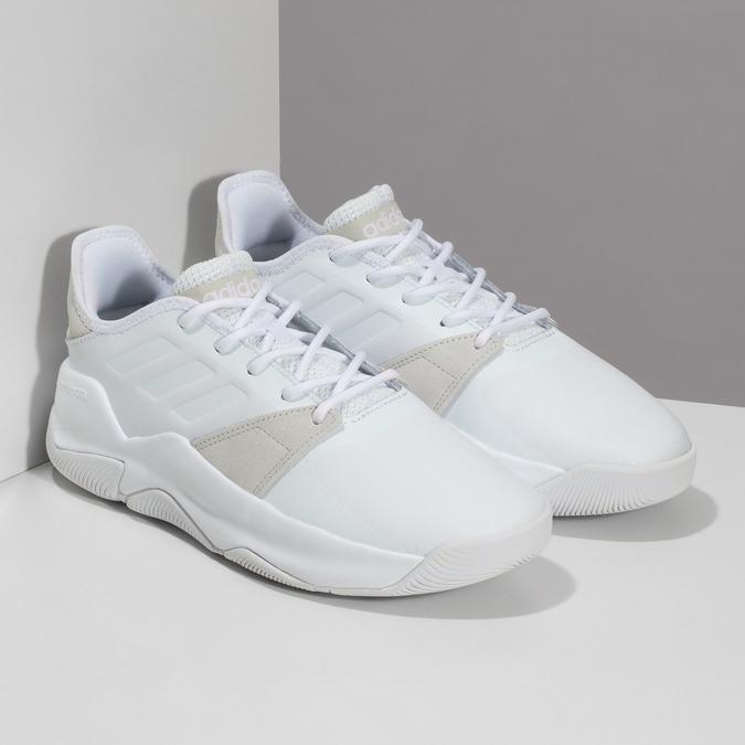 Pánské bílé tenisky s výraznou podešví adidas, bílá, 801-1223 - 26