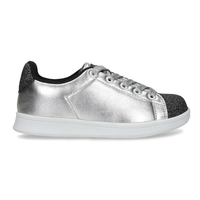 Stříbrné dětské tenisky se třpytkami mini-b, stříbrná, 321-1410 - 19