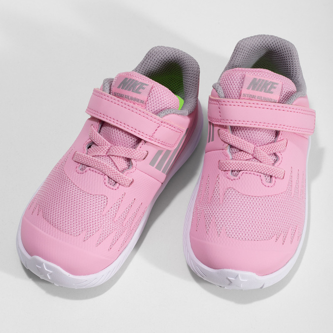 Světle růžové sportovní dětské tenisky nike, růžová, 109-5259 - 16
