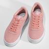 Růžové kožené tenisky s bílými detaily puma, růžová, 503-5188 - 16