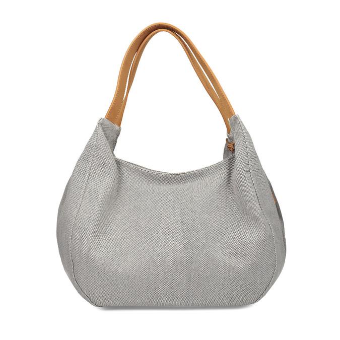 Šedá kabelka s hnědými detaily bata, šedá, 969-2868 - 16