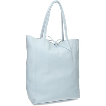 Světle modrá kožená kabelka bata, modrá, 964-9162 - 13