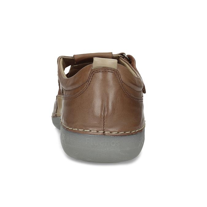 Kožené sandály hnědé fluchos, hnědá, 856-3621 - 15