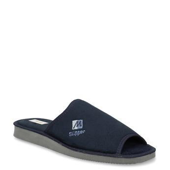 Pánská domácí obuv bata, modrá, 879-9606 - 13