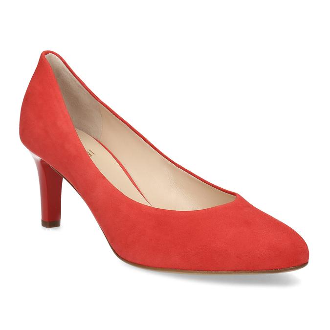 Červené lodičky z broušené kůže hogl, červená, 623-5007 - 13