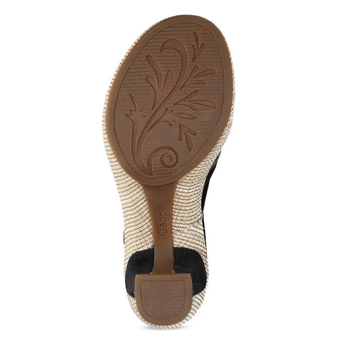 Dámské sandály na podpatku gabor, modrá, 663-6601 - 18