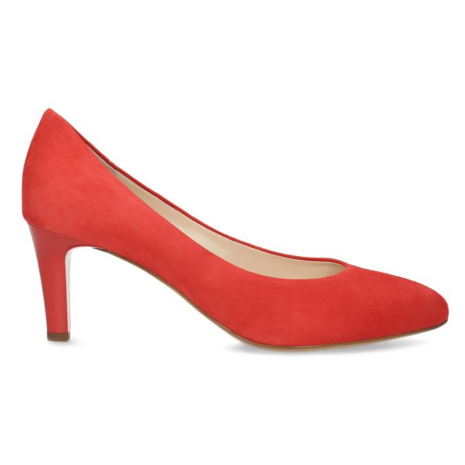 Červené lodičky z broušené kůže hogl, červená, 623-5007 - 19