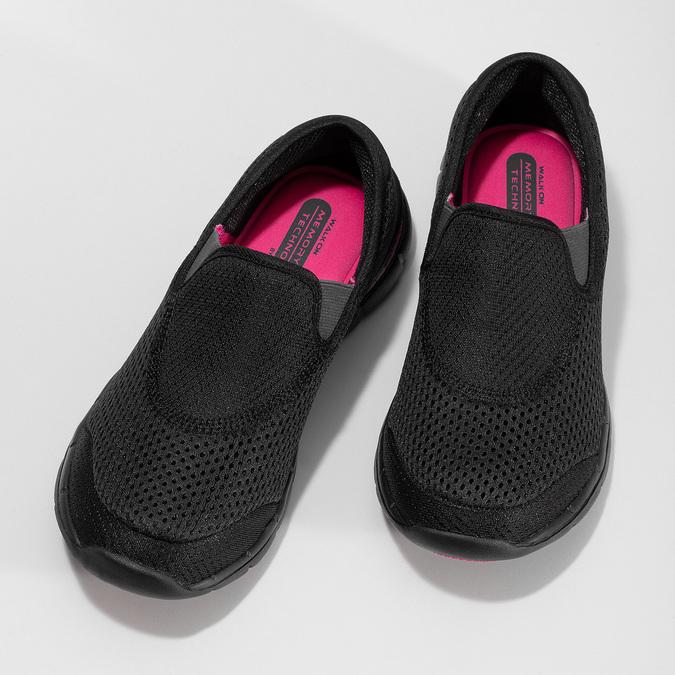 Sportovní dámské Slip-on power, černá, 509-6418 - 16