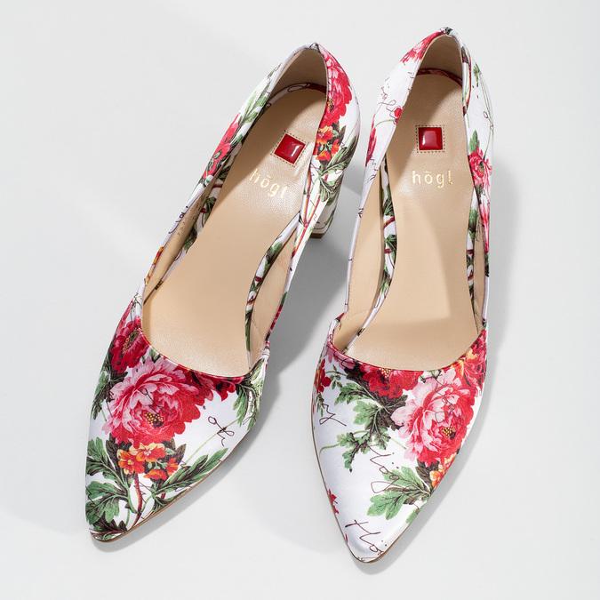 Květované lodičky do špičky hogl, vícebarevné, 629-0029 - 16
