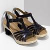 Dámské sandály na podpatku gabor, modrá, 663-6601 - 26