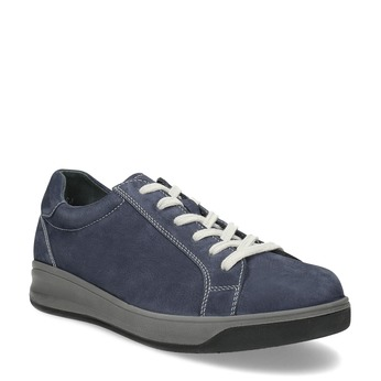 Modré pánské tenisky z broušené kůže comfit, modrá, 846-9723 - 13