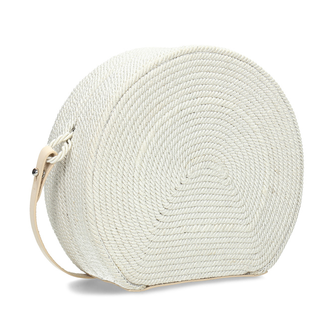 Bílá pletená Crossbody kabelka bata, bílá, 969-1786 - 13