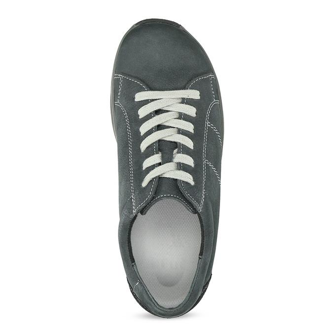 Kožené šedé dámské tenisky comfit, šedá, 546-2601 - 17