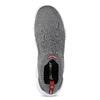 Pánské šedé kotníčkové tenisky z úpletu power, šedá, 809-2235 - 17