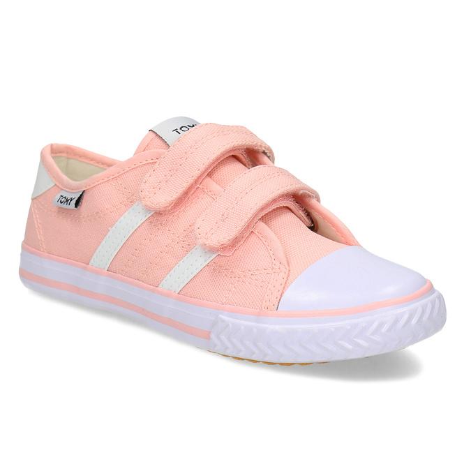 Dětské růžové tenisky se suchými zipy tomy-takkies, růžová, 389-5421 - 13