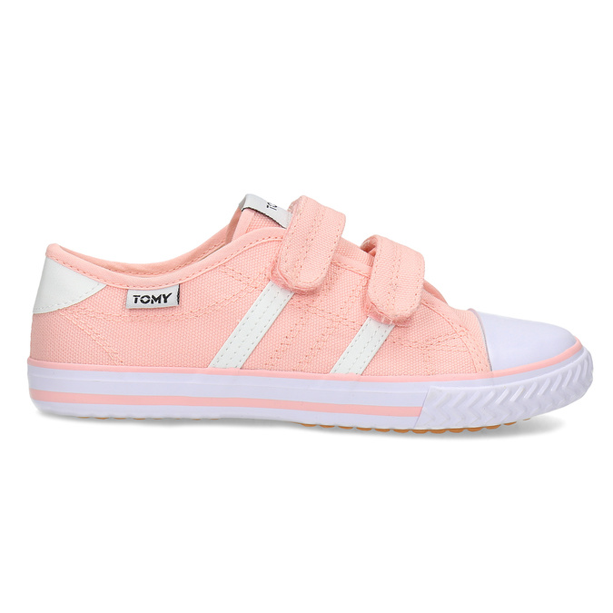 Dětské růžové tenisky se suchými zipy tomy-takkies, růžová, 389-5421 - 19