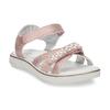 Růžové dětské sandály s kamínky mini-b, růžová, 461-5642 - 13