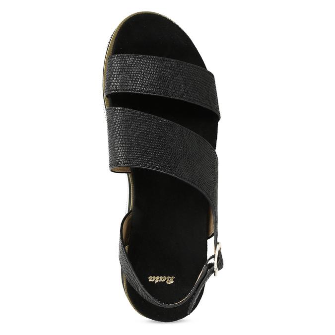 Černé dámské sandály na platformě bata, černá, 561-6631 - 17