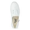 Dámské bílé ležérní tenisky tomy-takkies, bílá, 589-1385 - 17