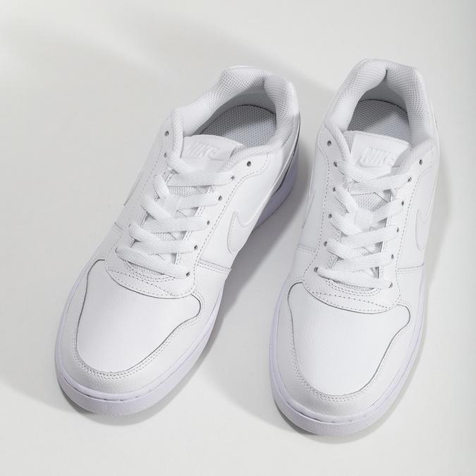 Bílé pánské ležérní tenisky s prošitím nike, bílá, 801-1124 - 16