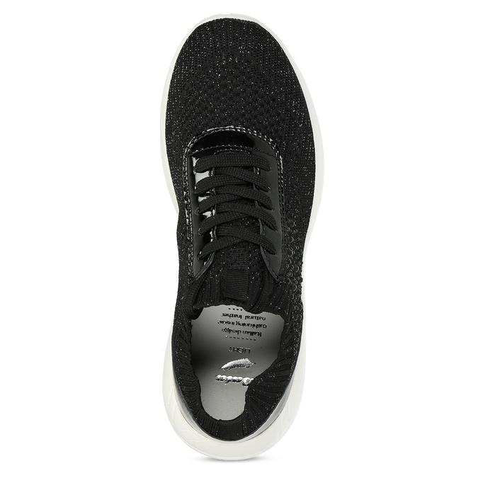 Černé dámské tenisky z úpletu bata-light, černá, 549-6615 - 17