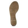 Bílé kožené sandály se stříbrnými detaily gabor, bílá, 664-1605 - 18