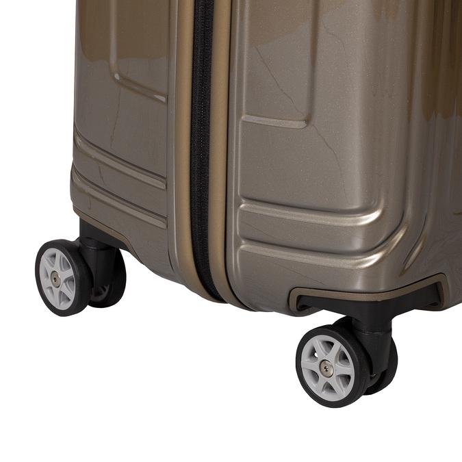 Kvalitní zlatý skořepinový kufr samsonite, zlatá, 960-8024 - 15