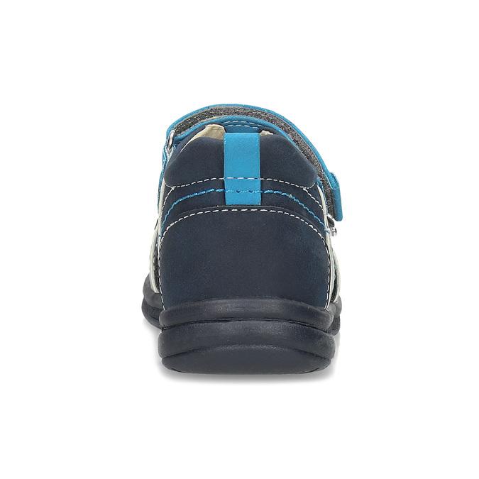 Modré dětské sandály s výrazným prošitím bubblegummers, modrá, 161-9613 - 15
