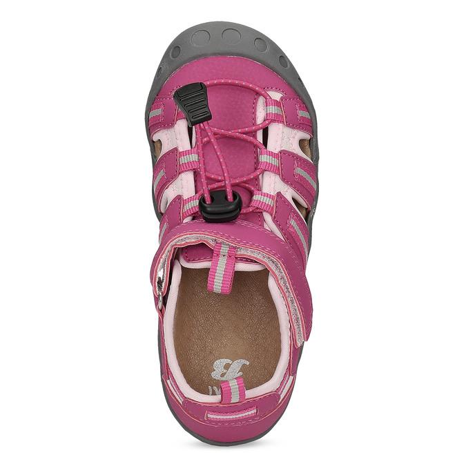 Růžové dívčí sandály outdoorového stylu mini-b, růžová, 261-5706 - 17