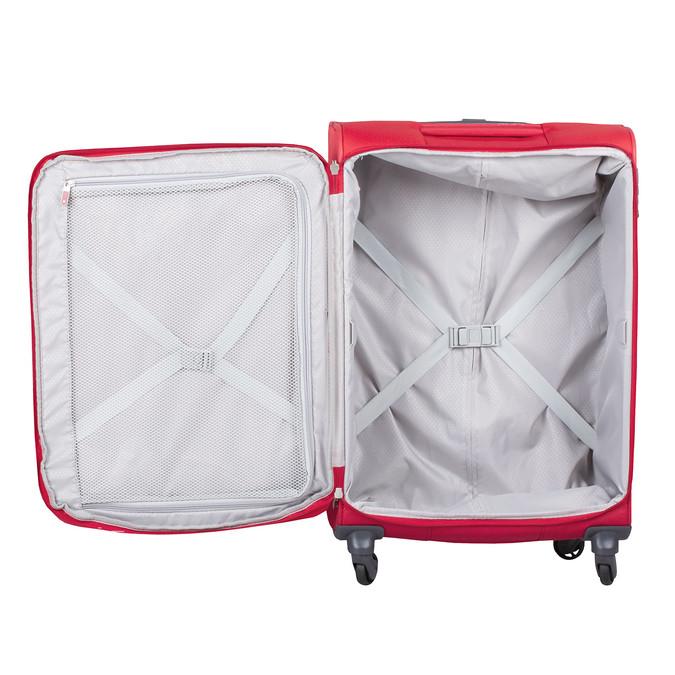 Červený střední textilní kufr samsonite, červená, 960-5039 - 17