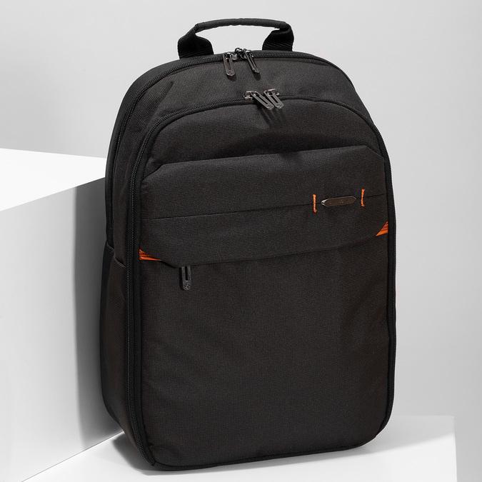 Kvalitní černý cestovní batoh samsonite, černá, 960-6062 - 17