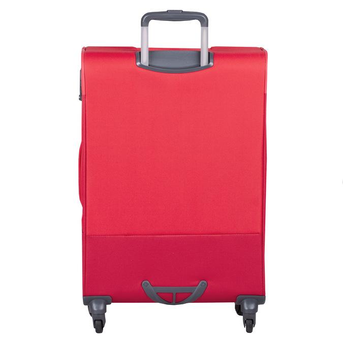 Červený střední textilní kufr samsonite, červená, 960-5039 - 26