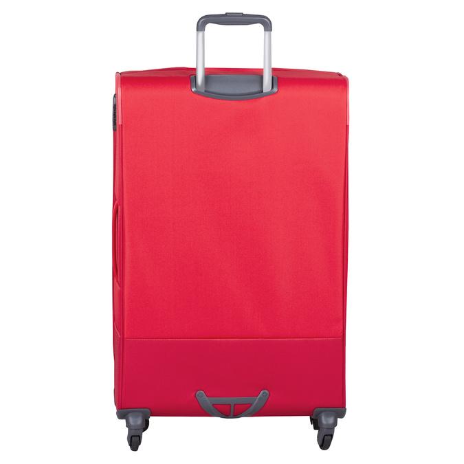 Velký červený textilní kufr samsonite, červená, 960-5041 - 26