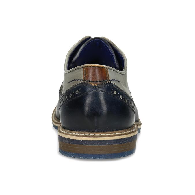 Ležérní kožené polobotky s Brogue zdobením bugatti, vícebarevné, 826-9955 - 15