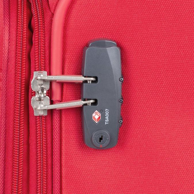 Červený střední textilní kufr samsonite, červená, 960-5039 - 16