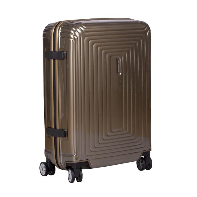 Zlatý kvalitní skořepinový kufr samsonite, zlatá, 960-8022 - 13