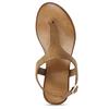 Hnědé kožené dámské sandály bata, hnědá, 564-3603 - 17