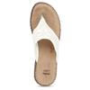 Dámské kožené žabky bílé bata, bílá, 566-1600 - 17